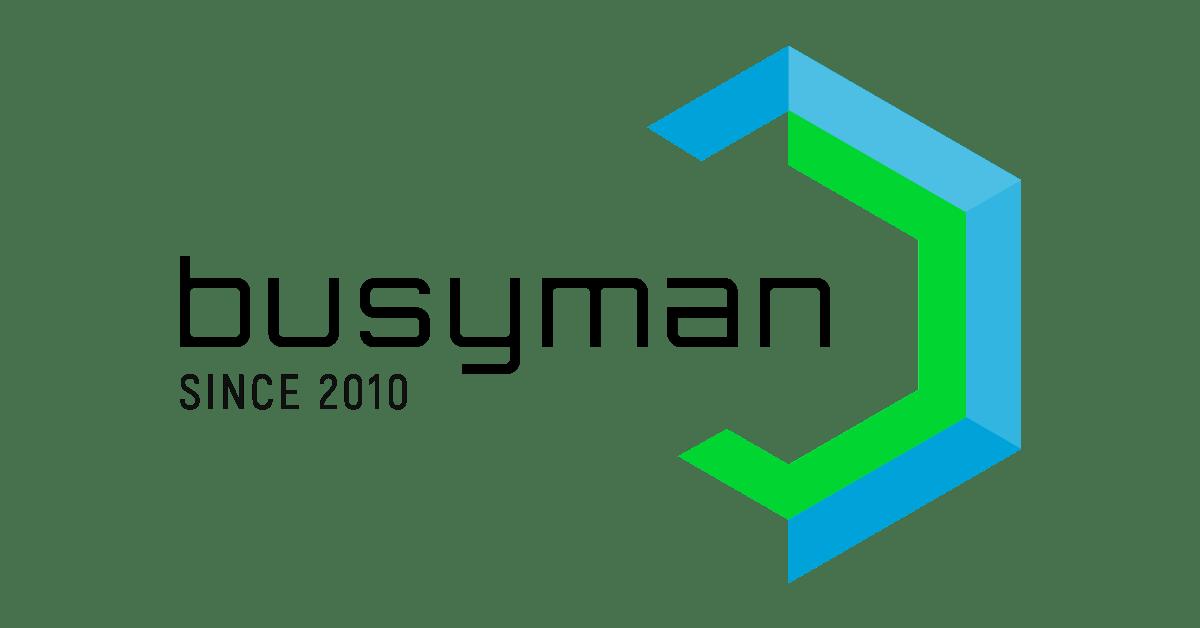 Busyman logo - naštartuj to partner - hľadám investora